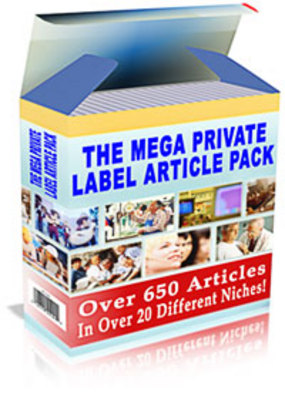 Product picture Megaplrarticlepack With Private Label Rights